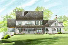 Colonial Exterior - Rear Elevation Plan #137-247