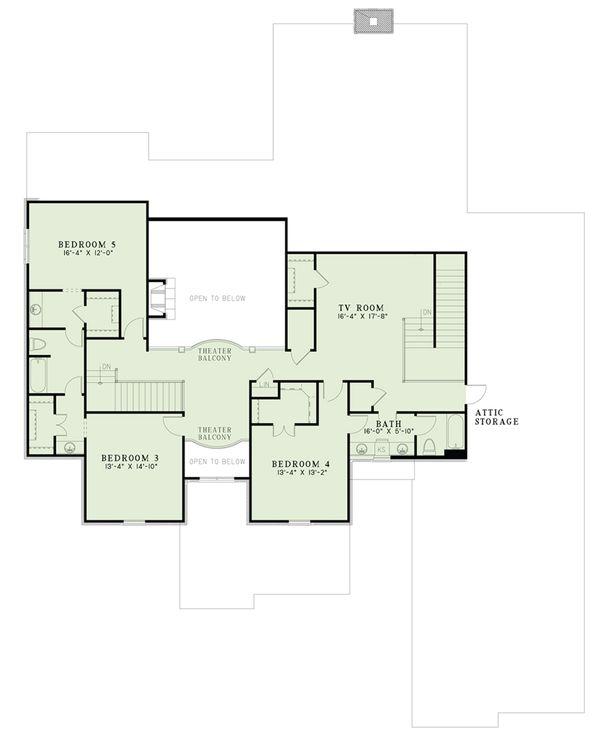European Floor Plan - Upper Floor Plan Plan #17-2568