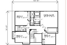 Traditional Floor Plan - Upper Floor Plan Plan #308-124
