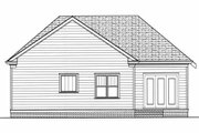 Craftsman Style House Plan - 3 Beds 2 Baths 1728 Sq/Ft Plan #413-788 Exterior - Rear Elevation