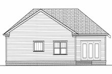 Home Plan - Craftsman Exterior - Rear Elevation Plan #413-788