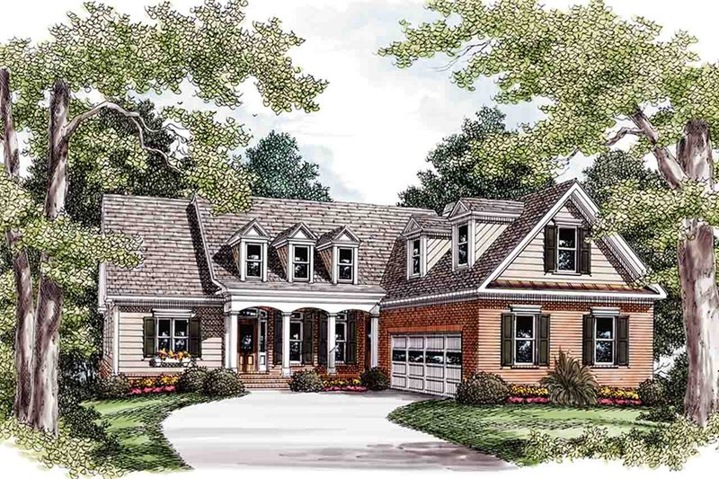 Country Exterior - Front Elevation Plan #927-16