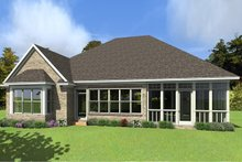 European Exterior - Rear Elevation Plan #63-415
