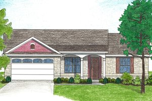 Home Plan - Ranch Exterior - Front Elevation Plan #80-102