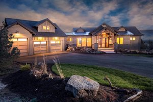 Ranch Exterior - Front Elevation Plan #895-29