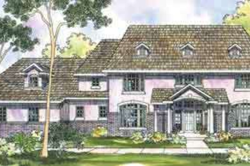 Dream House Plan - Colonial Exterior - Front Elevation Plan #124-355
