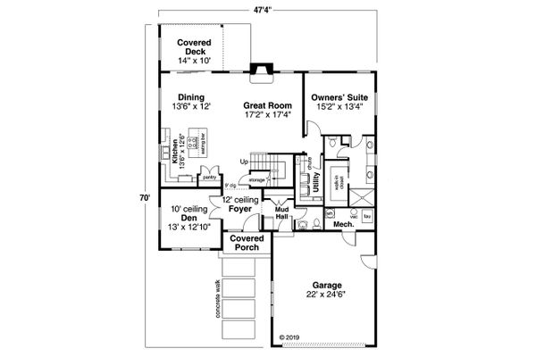 Modern Floor Plan - Main Floor Plan #124-1207