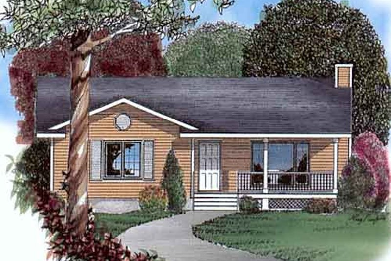 Cottage Style House Plan - 3 Beds 1 Baths 1200 Sq/Ft Plan #409-1117 Exterior - Front Elevation