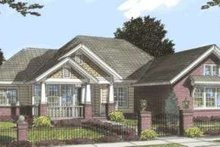 Dream House Plan - Bungalow Exterior - Front Elevation Plan #20-1840