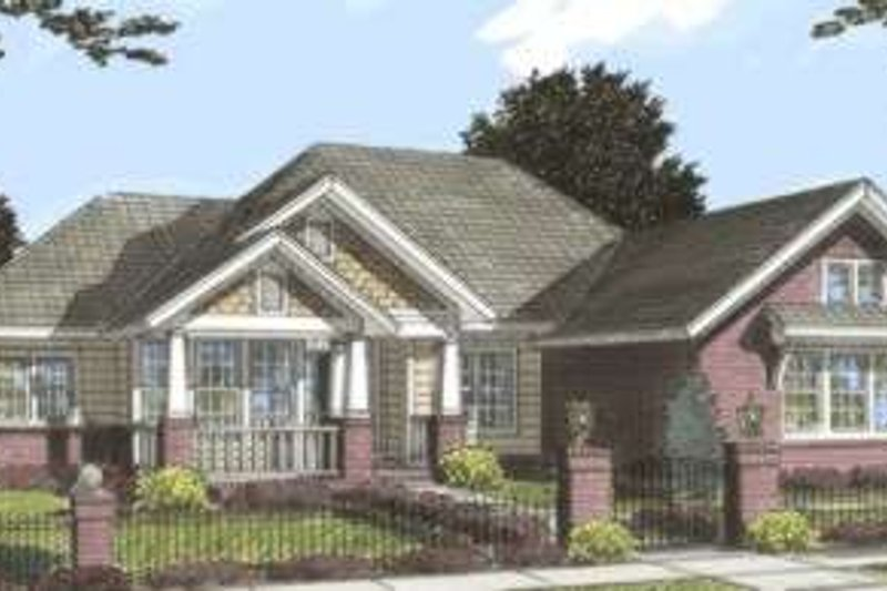 Bungalow Exterior - Front Elevation Plan #20-1840