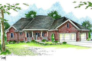 Traditional Exterior - Front Elevation Plan #455-107