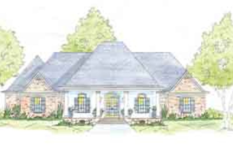 Southern Exterior - Front Elevation Plan #36-449 - Houseplans.com