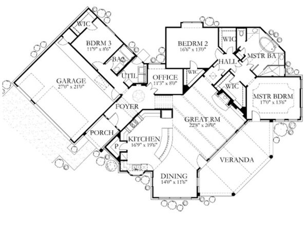 Dream House Plan - European Floor Plan - Main Floor Plan #80-159
