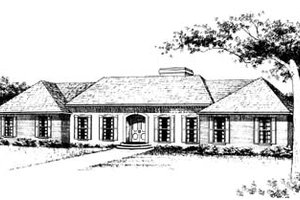 Traditional Exterior - Front Elevation Plan #10-147