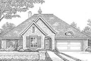 European Style House Plan - 3 Beds 2 Baths 1419 Sq/Ft Plan #310-283 Exterior - Front Elevation