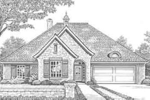European Exterior - Front Elevation Plan #310-283