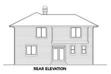 Dream House Plan - Craftsman Exterior - Rear Elevation Plan #48-310