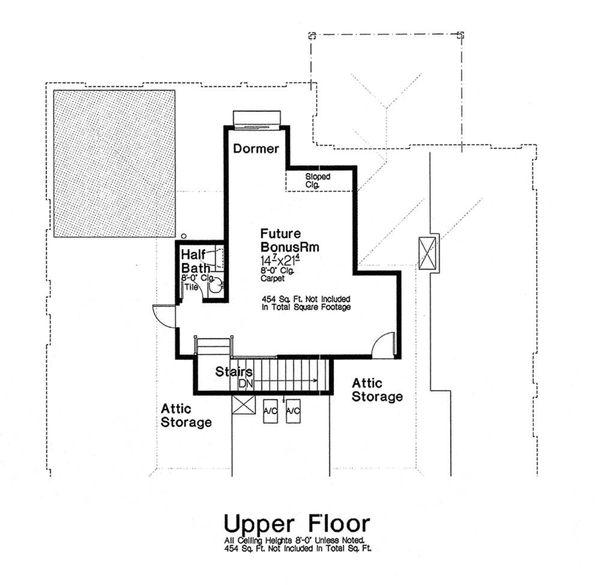 Dream House Plan - Optional Bonus Level