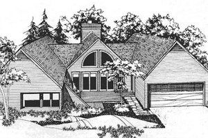 Exterior - Front Elevation Plan #320-317