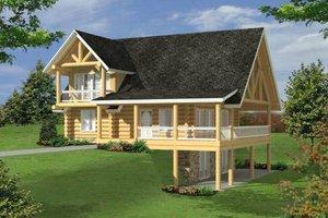 Log Exterior - Front Elevation Plan #117-556