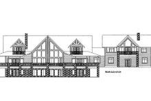 Home Plan - Ranch Exterior - Rear Elevation Plan #117-632