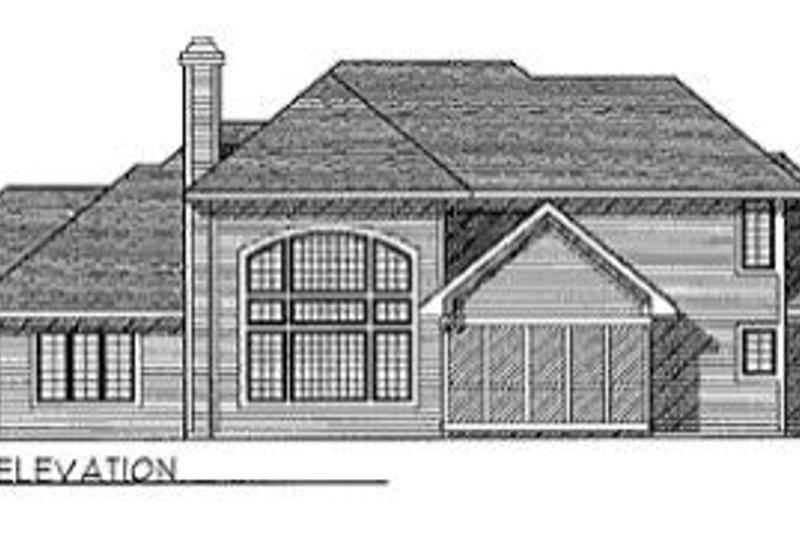 Traditional Exterior - Rear Elevation Plan #70-431 - Houseplans.com