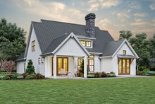 Dream House Plan - Contemporary Exterior - Rear Elevation Plan #48-993