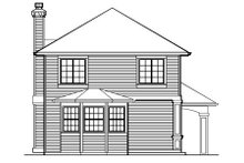 Dream House Plan - Traditional Exterior - Rear Elevation Plan #48-440