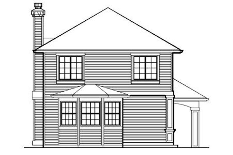 Traditional Exterior - Rear Elevation Plan #48-440 - Houseplans.com