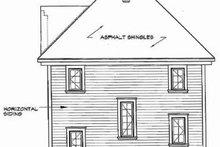 Home Plan - Country Exterior - Rear Elevation Plan #23-2165