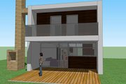 Modern Style House Plan - 2 Beds 1 Baths 709 Sq/Ft Plan #473-3 Exterior - Other Elevation
