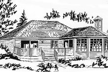 House Blueprint - Traditional Exterior - Front Elevation Plan #18-167