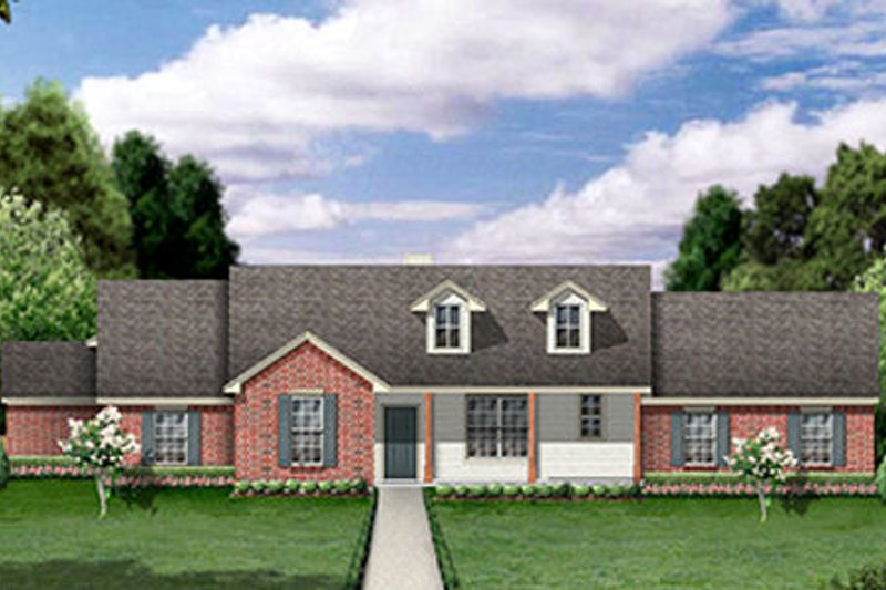 Ranch Exterior - Front Elevation Plan #84-459