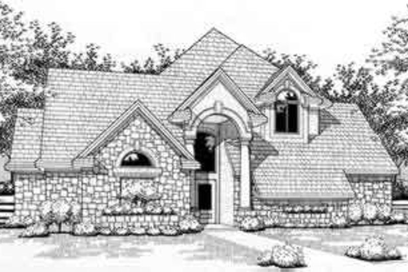 Traditional Style House Plan - 3 Beds 3 Baths 2511 Sq/Ft Plan #120-111 Exterior - Front Elevation