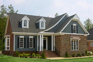 Home Plan - European Exterior - Front Elevation Plan #137-153