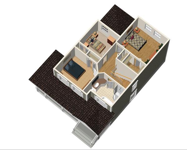 Country Floor Plan - Upper Floor Plan Plan #25-4338