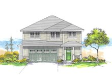 Architectural House Design - Craftsman Exterior - Front Elevation Plan #53-659