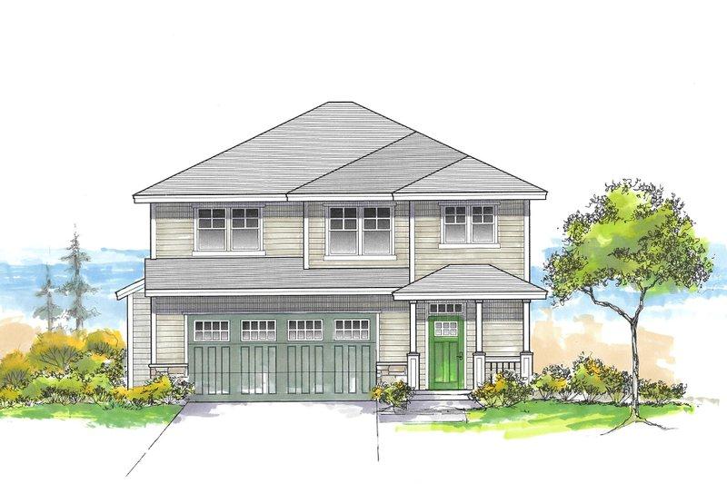 House Plan Design - Craftsman Exterior - Front Elevation Plan #53-659