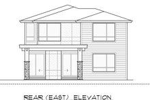 Contemporary Exterior - Rear Elevation Plan #1066-50
