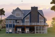 Craftsman Style House Plan - 5 Beds 3.5 Baths 3107 Sq/Ft Plan #1064-11 Exterior - Rear Elevation