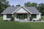 Craftsman Style House Plan - 3 Beds 2 Baths 1522 Sq/Ft Plan #1070-63 Exterior - Rear Elevation