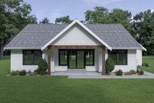 Craftsman Exterior - Rear Elevation Plan #1070-63