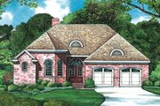 European Style House Plan - 2 Beds 2 Baths 1339 Sq/Ft Plan #20-1395 Exterior - Front Elevation