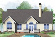 Ranch Style House Plan - 3 Beds 2 Baths 1590 Sq/Ft Plan #929-478 Exterior - Rear Elevation