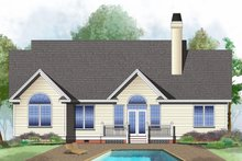 Architectural House Design - Ranch Exterior - Rear Elevation Plan #929-478