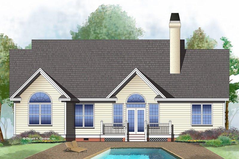 Ranch Exterior - Rear Elevation Plan #929-478 - Houseplans.com