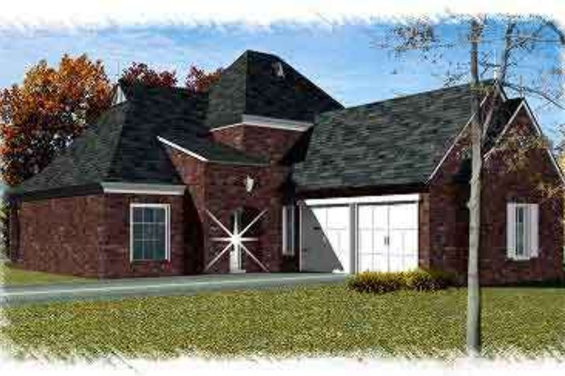 European Exterior - Front Elevation Plan #15-276