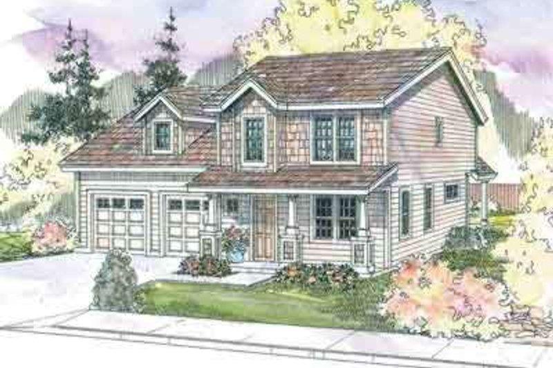 Craftsman Exterior - Front Elevation Plan #124-566