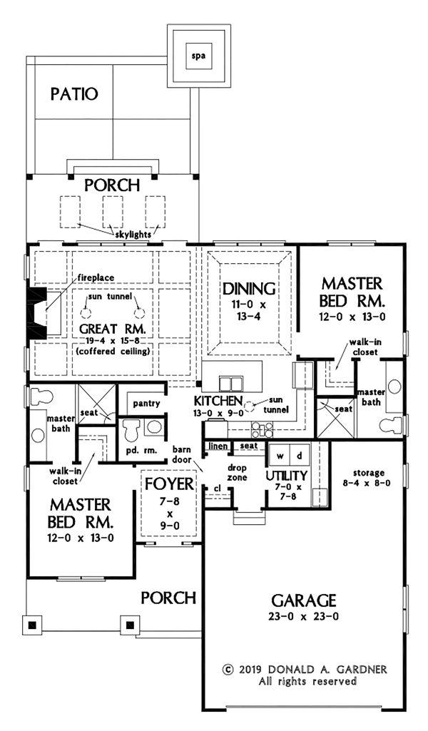 Cottage Floor Plan - Main Floor Plan #929-1092