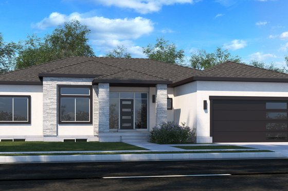 Contemporary Exterior - Front Elevation Plan #1073-20